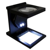 Lupa Cuenta Hilo Con Led 30 Mm 5x Metal Cristal Obi