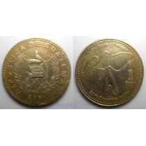 1 Quetzal 2001 Guatemala Moneda Firma Acuerdo De Paz - Vbf