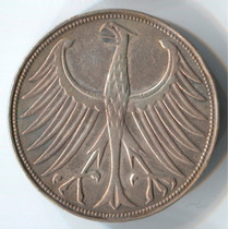 Alemania 5 Mark De 1951j De Plata (037p)
