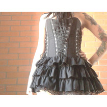 Vestido Corset Ajustable Dark Gotico Steam Punk