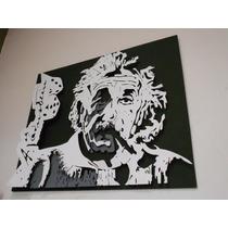 Cuadros Decorativos Exclusivos 3d Albert Einstein Con Firma