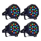 4 Cañon De Leds 18x1 Luz Audioritmico Dmx Automatico Nuevos