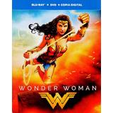 Mujer Maravilla Wonder Woman Blu-ray + Dvd + Hd Steelbook