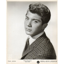 Foto Original Paul Anka General Artists Corporation Irv Feld
