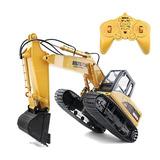 Excavadora Rc Remoto Control Huina 1550 Juguetes 1:14 Regalo