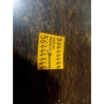 Etiqueta Sato 216 Impresa Amarilla Lote Fecha De Caducidad