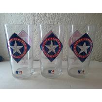 Vasos De Vidrio Texas Rangers Beisbol Club 1994