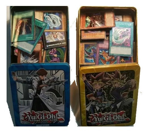 Yugioh Lata 100 Cartas (10 Foils)+obelisco Secret Gold+envío