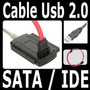 Cable Adaptador De Disco Duro 3 En 1 Usb 2.0 Sata - Ide Hd