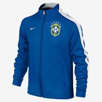 Chamarra Trackjacket N98 Brasil Visita Infantil 2014-15 Nike