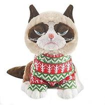 Gato Gruñón En El Suéter De Vacaciones