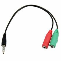 Adaptador Y Griega Para Microfono Y Audifonos 3.5mm 4 Polos