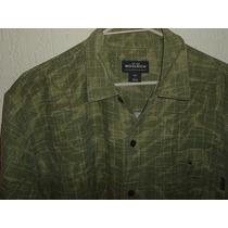 Camisa Hawaiana Camuflaje Woolrich Lino Algodon Nueva T L