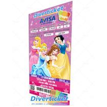 Invitación Tipo Ticket Personalizada Pack 20 Piezas