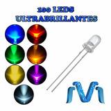 100 Leds Ultrabrillantes 5mm, Paquete De 100 Leds, Leds