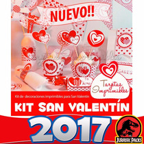 San Valentin Kit Imprimible Tarjetas Marco Fotos Cajitas2016