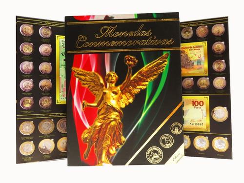 Album Monedas 5 Y 20 Pesos Billetes 100 Y 200 Angel #1 Full