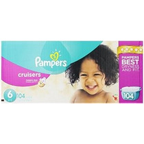 Pampers Cruisers Pañales Tamaño 6 Economía Paquete Plus 104