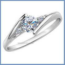 Anillo De Compromiso Diamante Natural .45ct Oro 10k -50% 164