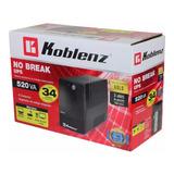 No Break Interactivo Hasta 45 Minutos Pc Monitor Koblenz 520 Va 240 W 6 Ctcos 3 Años Garantía 5216 R