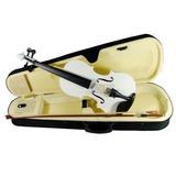 Violin 4/4 Profesional Blanco Estuche Accesorios Audiomex