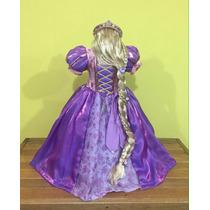 Vestido Rapunzel, Tiara, Guantes Y Peluca