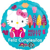 Globo Hello Kitty Paq 10 Pzas 9 Pulgadas Para Centro De Mesa