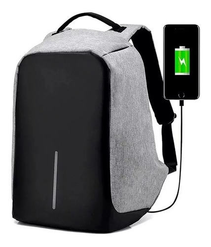 Mochila Backpack Antirrobo Impermeable Puerto Usb Laptop