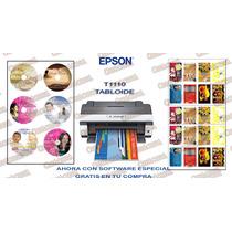 Kit Epson L1800 L1300 T1110 1430 Imprime Cds Y Credenciales