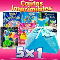Kit Imprimible Princesas Disney Hadas, Recuerditos Y Cajitas