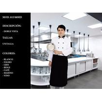 Mandil Para Chef Meseros Cocina Restaurates Uniformes