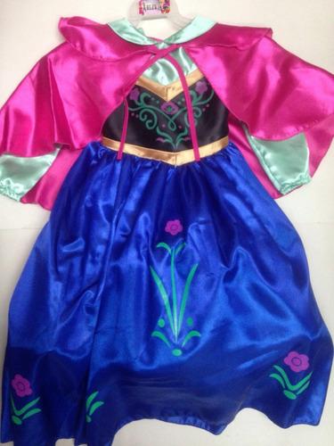 Disfraz Vestido Anna Frozen Princesa Ana Elsa Disney En