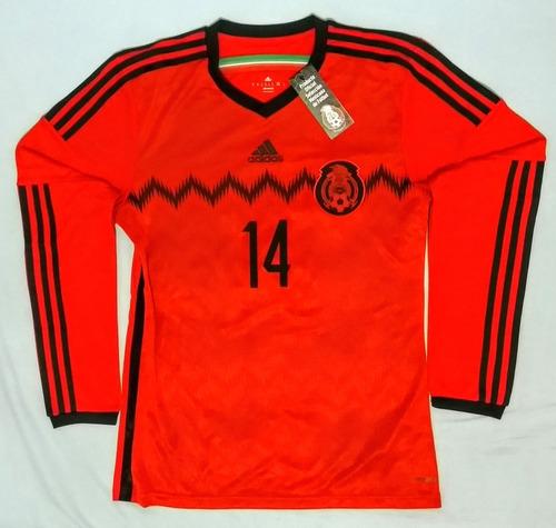 c51467ecae2e4 Ver más Ver en MercadoLibre. Chicharito Mexico 2014 Manga Larga Jersey  adidas Visitante Nuevo. Estado De México