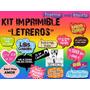 Kit Imprimible Letreros Para Fiesta Cumpleaños, Boda, Etc
