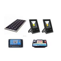 Luminaria Reflector Energia Solar - 40w Para Casa De Campo