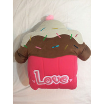 Cojin Decorativo Cupcake Love Regalo Amor Novia