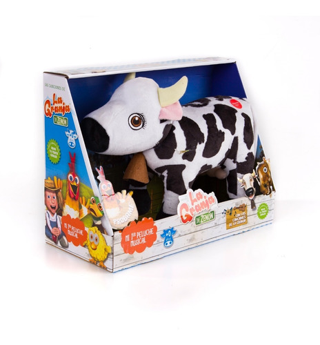 Vaca Lola Peluche Musical 30 Cm La Granja De Zenon El Reino