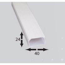 Canaleta Pvc 6 A 7 Cables 24mm X 40mm X 2m 1vía Autoext