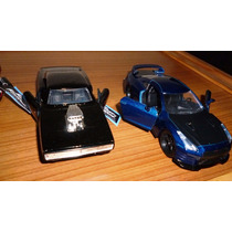 Dos Autos Fast And Furious Dodge Charger 70 R/t Y Nissan R35