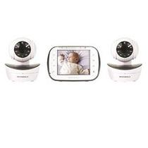 Monitor De Motorola Bebé De Vídeo Digital Con 2 Cámaras, 3,5