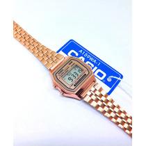 Busca reloj casio dama vintage rosa 1572 a168 mini envio