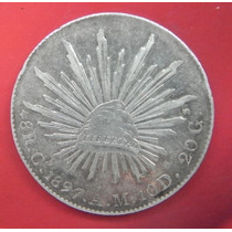 Moneda México 8 Reales 1897 Am Culiacan Plata