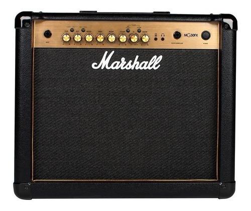 Amplificador Marshall Mg Gold Mg30gfx Transistor 30w Negro Y Oro