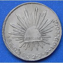 Moneda México Guadalajara 8 Reales 1832 F S