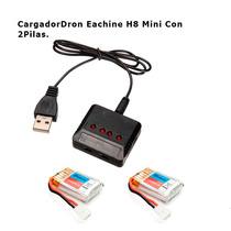 Cargador Multiple Y 2 Baterias P Dron Eachine H8 Mini Ara