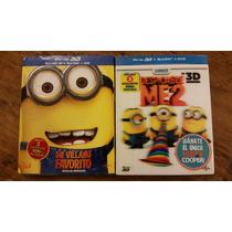 Mi Villano Favorito 1 Y 2 Bluray 3d + Bluray +dvd