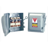 Caja Metálica Royer Para Fusibles 3x30 Amperes De Cuchillas