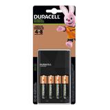 Cargador 4 Baterias Aa 2500mah Recargable Duracell Promocion