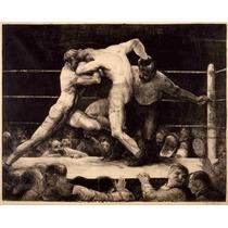 Lienzo Tela Historia Boxeo Poster Deportes 1905 50 X 62 Cm