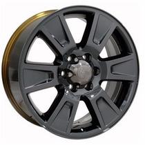 Juego De 4 Rines Negro Cromado Ford F150 20x8.5